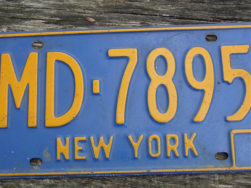 New York License Plate MD-7895 Medical Doctor 1966-1973 Automobile SOLD on Ruby Lane
