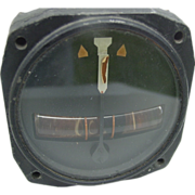 Military Kittyhawk Turn Indicator Bendix Aviation WWII P-40 Curtiss Warhawk Airplane