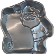 Wilton Santa Checking List Cake Pan 1995 Aluminum 2105-3323