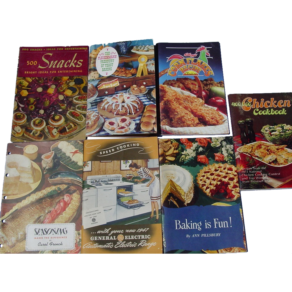 Recipes Cookbooks Pillsbury Fleischmann Yeast Kellogg's Corn Flakes R.T.French