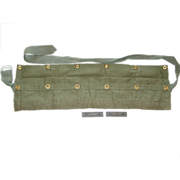 Australian FAL Rifle 7.62 Cloth 5 Pocket Ammo Pouch Belt Bandoleer Round Clips