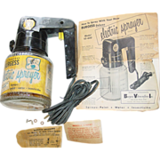 Burgess Electric Sprayer Model VS-600 Paint Water Insecticides Vibrocrafters Gun 1950