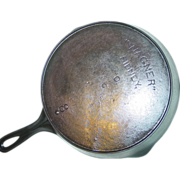 Wagner Sidney -O- Skillet No. 8 Dot Cast Iron Fire Heat Ring Frying Pan Kitchen Cookware