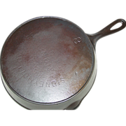 Sidney Hollow Ware Co Sidney O Skillet No. 8 Cast Iron Fire Heat Ring Frying Pan 1887-98