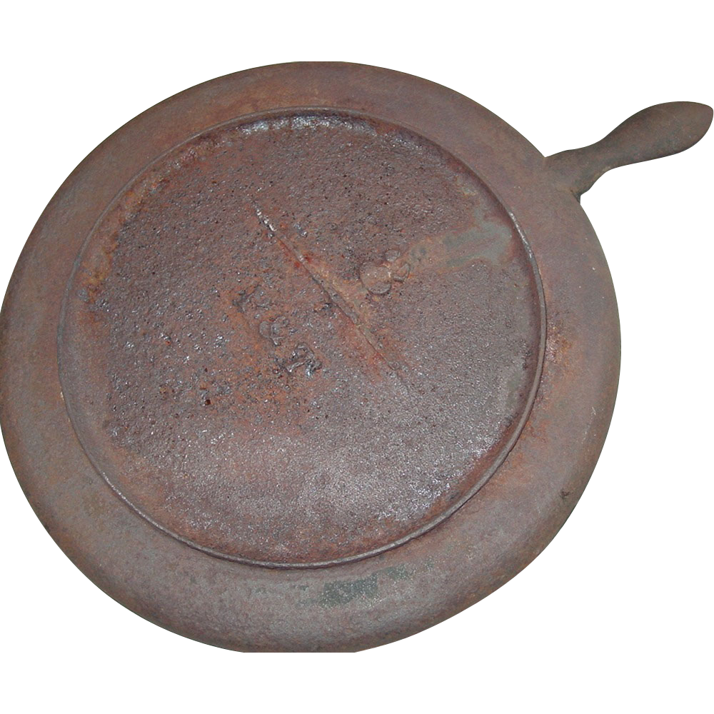 P Amp T Cast Iron Griddle 11 Inch 17 1800s Gate Mark Fire