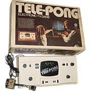 Tele Pong Electronic TV Game Entex B&W Television Tennis No.3047 Video Box Toy