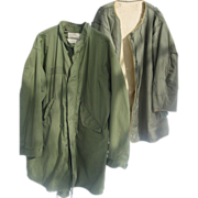 Parka Fishtail Korean War Med. Liner Vietnam 1975 Large Shell Extreme Cold Weather M-65