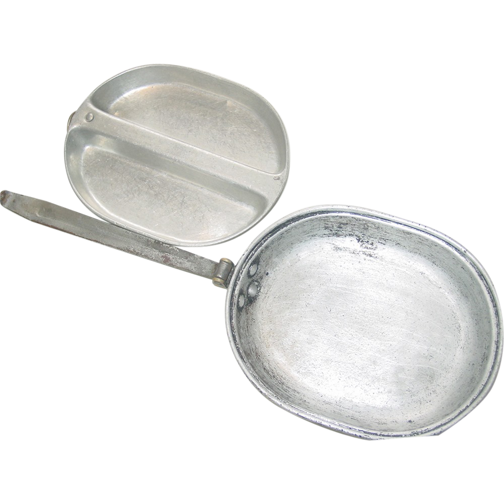 Military Mess Kit M-1932 WWI Bottom WWII Divided Top Marine Corps Meat Can as is