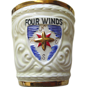 Four Winds Vase Planter Designed By Hickok Made in Japan Ceramic