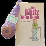 The Klutz Yo Yo Book by John Cassidy American Maple Wood 1987 Toy
