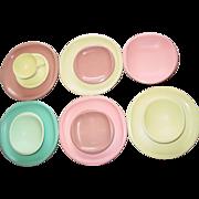Boontonware Boonton Ware Belle Dishes Saucers Bowls Melmac Melamine N.J.