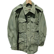 Military M-1951 Field Jacket Korean War Regular Small Cold Weather Coat as is