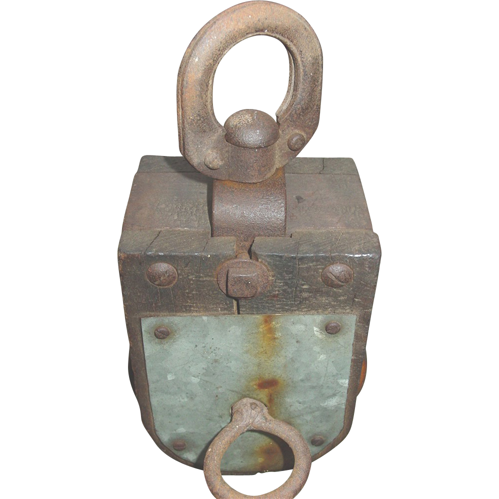 Pulleys And Blocks For Sale : Starline pulley block tackle modified wood single wheel