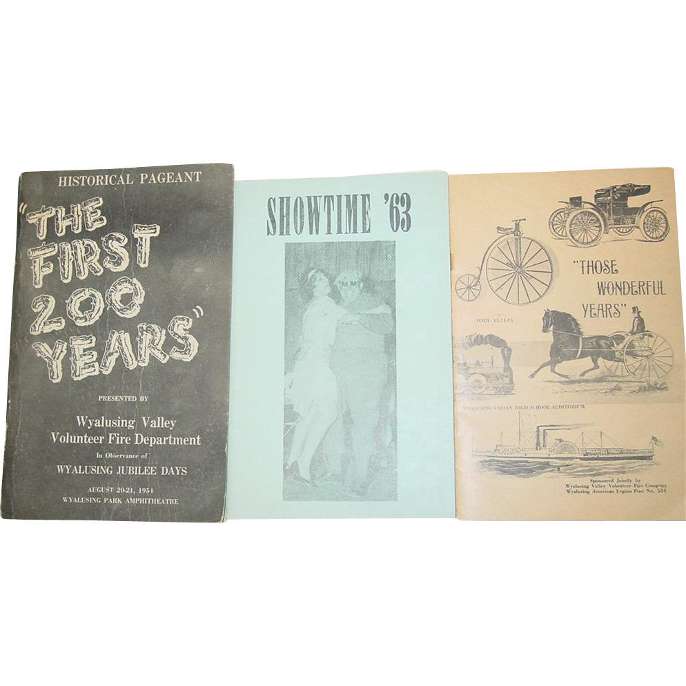 Wyalusing Pennsylvania The First 200 Years 1954 Book Showtime 63 Wonderful Years