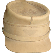 Henschel Civil War Style Hat Size Large Tan Leather Cap Military Reenactment Souvenir