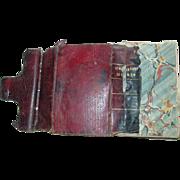 Polyglott Pocket Bible 1848 Civil War Era as is Merriam Chapin English Old New Testament