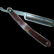 F. H. Loeffler Livesteel Straight Razor Rochester N.Y. Barber Shaving