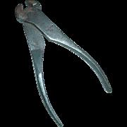 UTICA No. #60 End Nipper Cutting Pliers 3 Diamonds Logo Tool New York