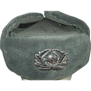 Military East German Winter Hat DDR Army Officer 1974 Size 57 NVA Trooper Style