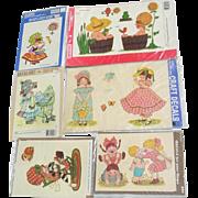Meyercord Decals Craft Children Little Girls Child Little Miss Muffet Leap Frog Playing