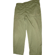 Military Fatigue Trousers OG-507 Size 40X29 Durable Press 1983 OD Pants