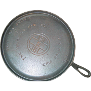 Griswold #9 Hand Griddle 609 B Cast Iron 1925-1940 Large Logo Round Fire Ring Pan