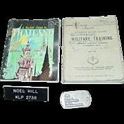 Military Vietnam War Dog Tag Training Book Veteran Noel A. Hill Thailand Guide