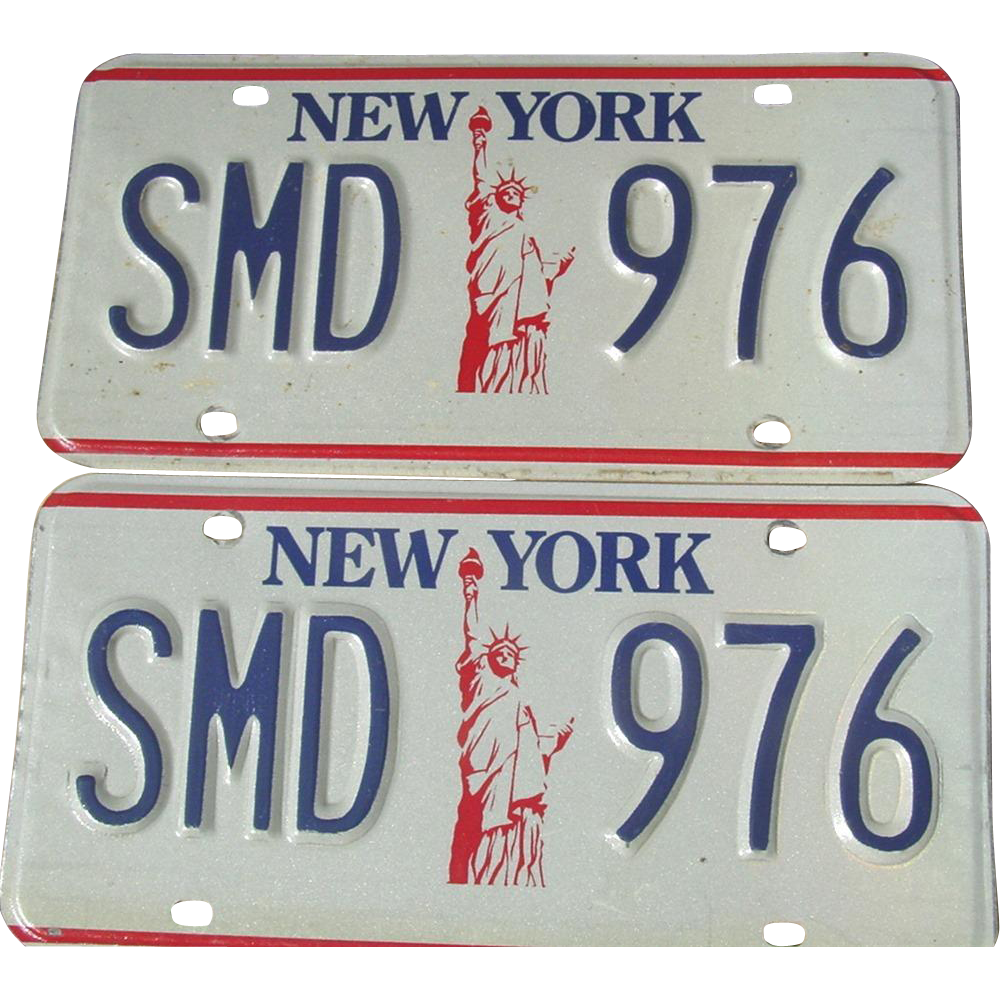 New York State Statue Of Liberty License Plates NY