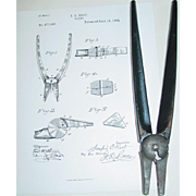 Sanford O. Root Pliers June 14, 1892 Patent 477,066 Iron Cutting Edge Pivoting Frame