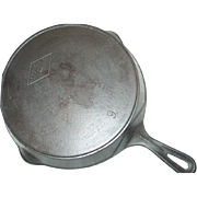 "Miami Favorite Piqua Ware Skillet No. 9 Cast Iron Fire Heat Ring 11"" Frying Pan"