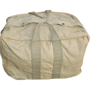 Military Aviator's Kit Bag AN 6505-1 Cotton Canvas Parachute Air Force Paratrooper