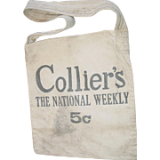 Newspaper Boy Canvas Bag Colliers Weekly Womans Home Companion Magazine