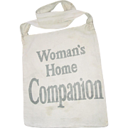 Newspaper Boy Canvas Bag Womans Home Companion the American Magazine