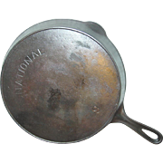 Wagner National Skillet No. 9 Cast Iron Fire Heat Ring Frying Pan Kitchen Cookware