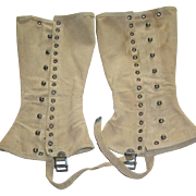 Military WWII Leggings Gaiters Pair Spats Leggings M1938 Army Boot Set
