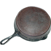 Wagner Skillet No. 8 Straight Line Lettering 1890s Cast Iron Fire Heat Ring Frying Pan