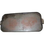 "Griswold No. 9 Long Griddle 746 Erie Pa Cast Iron 1925-1950 Rectangular 10½X24"" Pan"