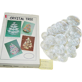 Crystal Tree Plastic Christmas Candy Hors D'oeuvre Trays Union Prod Leominster Mass