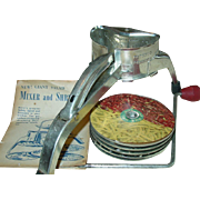 Mouli Rotary Slicer Shredder Grater Made in France Original TV Salad Mixer