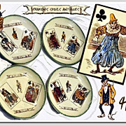 Hautin, Boulenger & Co.: Antique French Luncheon Plate Set with  Playing Card Themes