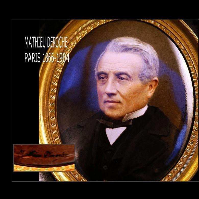 Mathieu Deroche: Portrait Miniature Winner Grand Prix 1900