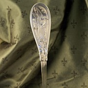 Antique Aesthetic Movement Tiffany Silver Ladle Japanese Pattern