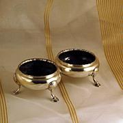 Rare! Antique English Sterling Silver Salts London 1763