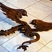 Amazing Antique French Carved Walnut Dragon with Breasts!!