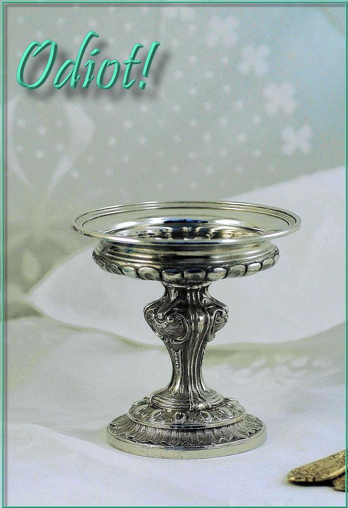 Odiot! Splendid Antique French Sterling Silver Toasting Cup