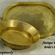 Antique Tsarist Russia Brass Wedding Bowl Stamped