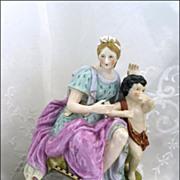 Good Continental Porcelain Figurine Hand Painted Gilt