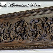 HUGE Antique French Hand Carved Architectural Panel