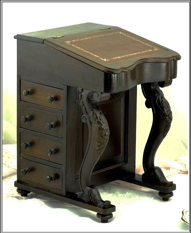 Antique Miniature Davenport Or Captain S Desk From - Antique Captains Desk  - Best 2000+ - Antique Captains Desk Antique Furniture