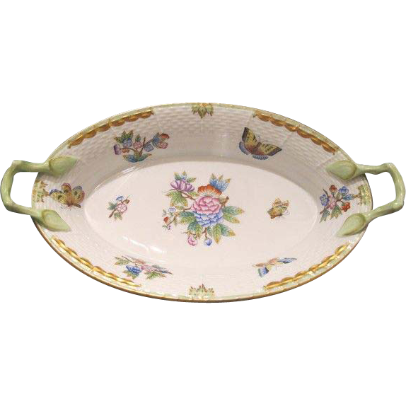 "Exquisite Herend porcelain basket ""Queen Victoria"", about 1960"
